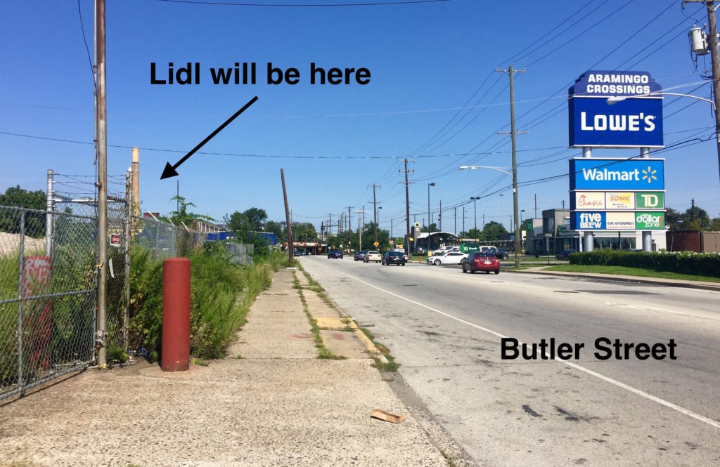 Lidl, a European grocer, has bought up the property across the street from Walmart in Port Richmond.