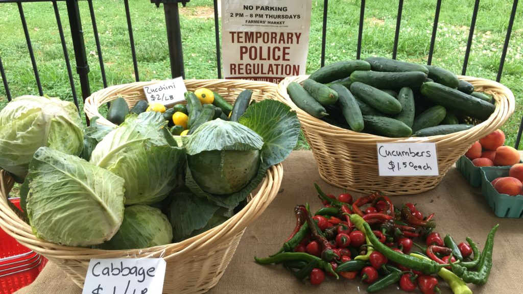 These vegetables traveled three hours to park in Port Richmond.