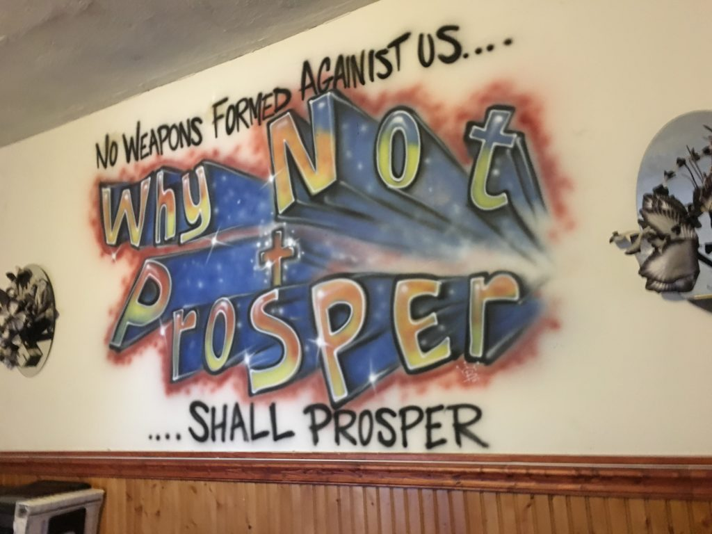 A mural inside Why Not Prosper's Germantown recovery house