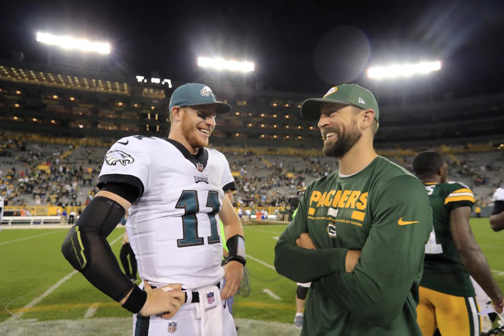 Carson Wentz and Aaron Rodgers