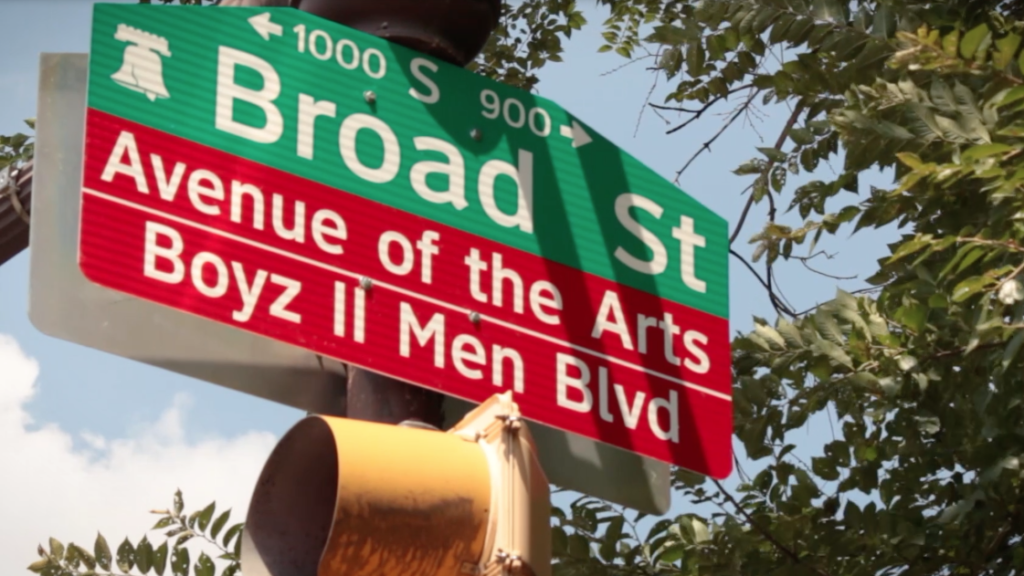 Boyz II Men had their name added to Broad Street signs between Christian and Carpenter Streets this June