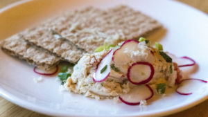 Smoked trout spread, new at Brauhaus Schmitz