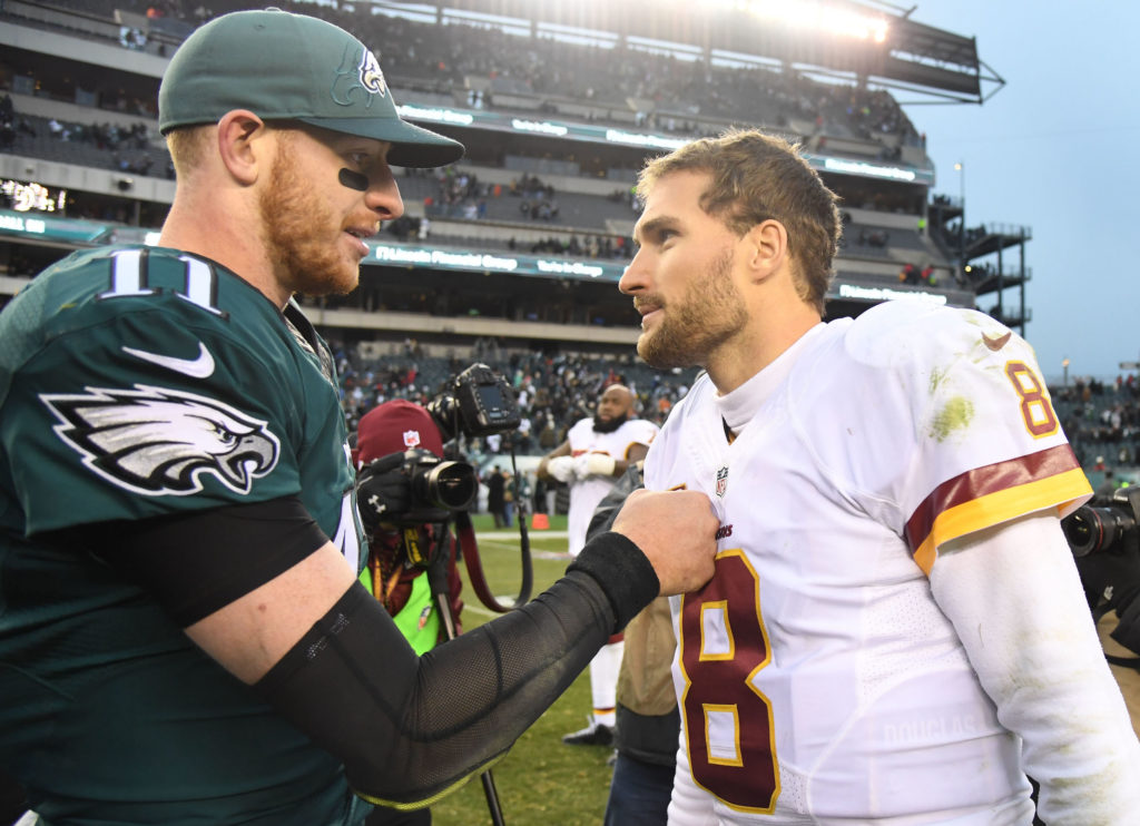 Carson Wentz and Kirk Cousins