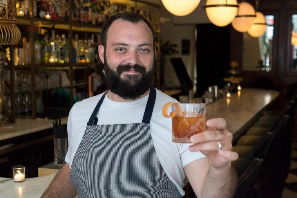 MacDonald holds his newest Fibonacci cocktail