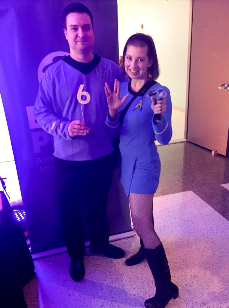 Christiana Deemer (and friend) as members of Starfleet