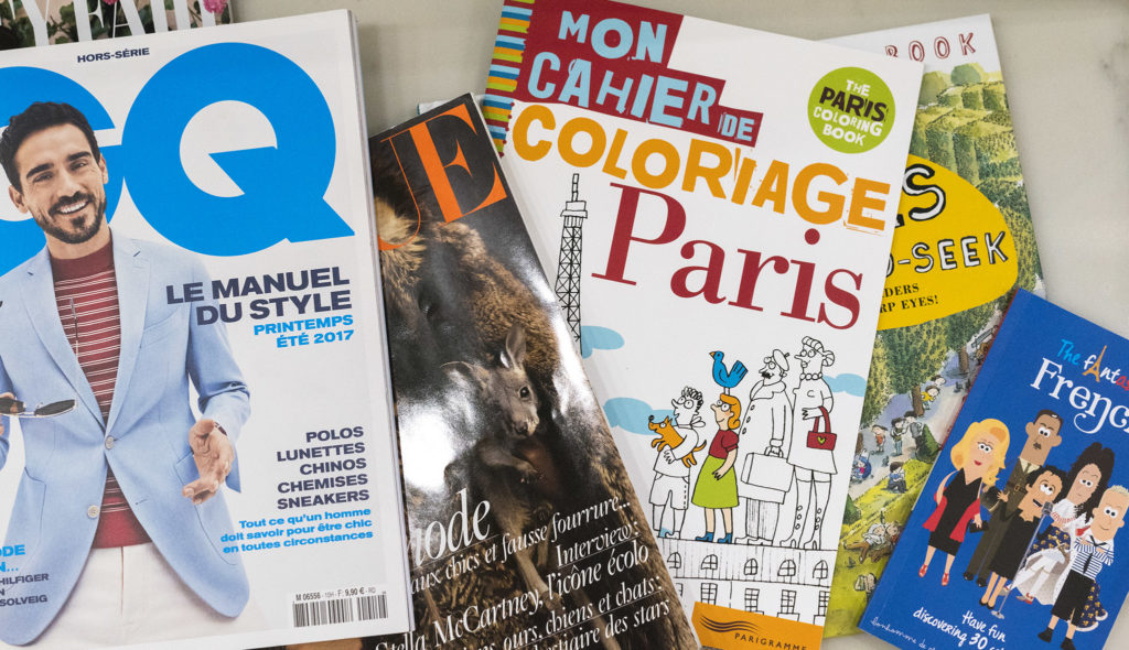 Ornano has stocked the cafe with a selection of French magazines