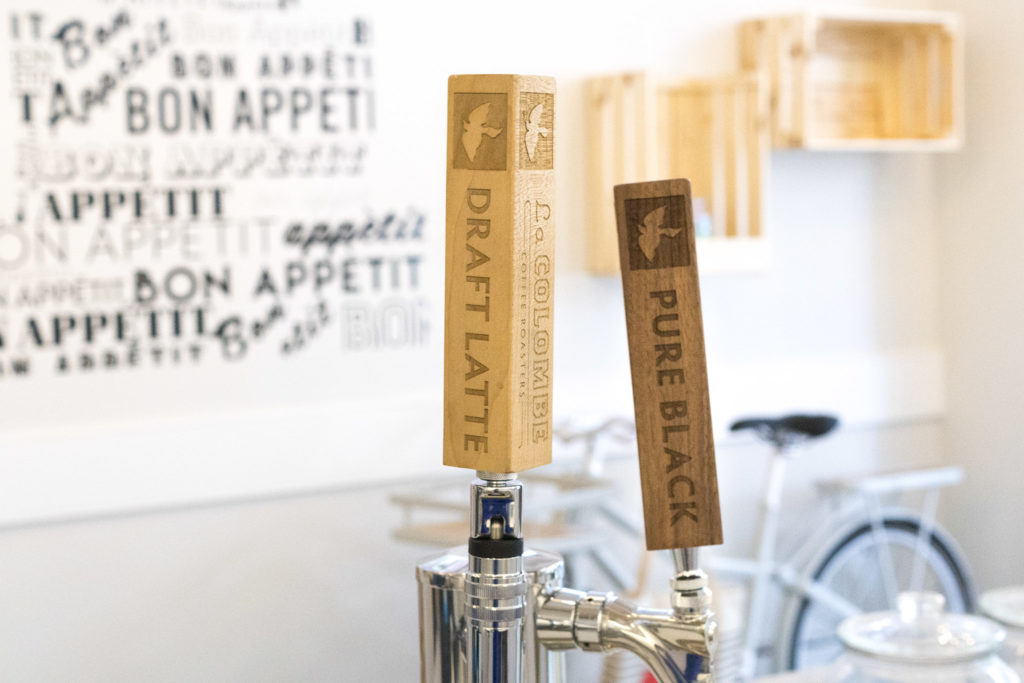J'aime will offer La Colombe Draft Latte on tap