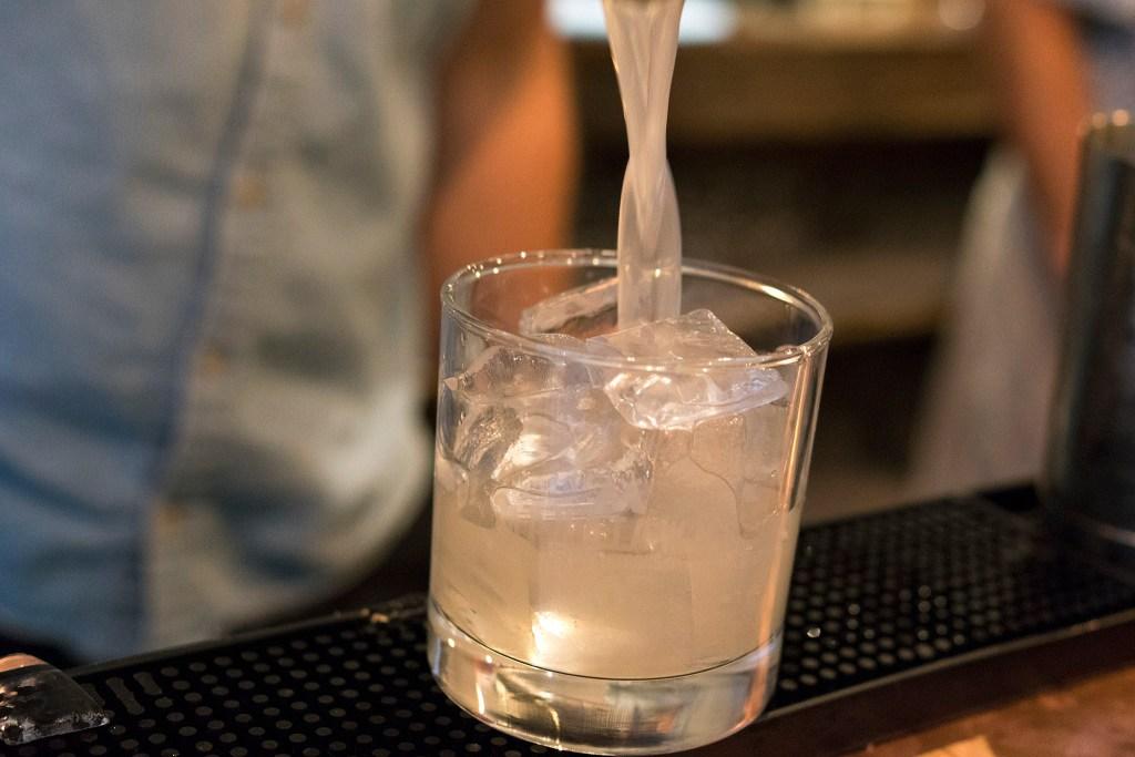 Bartender Ben Spirk finishes up a 'Goretti-Rita'