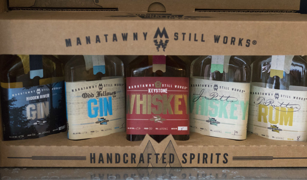 The Manatawny line, in flask-size 200-ml bottles