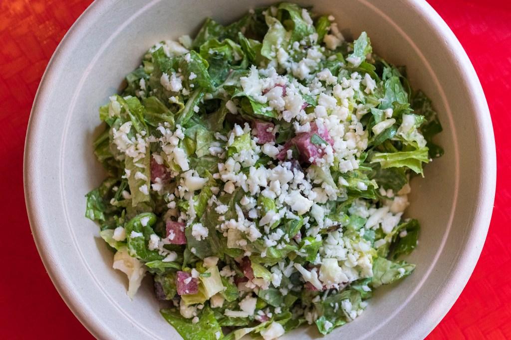 Chopped salad at Wiz Kid
