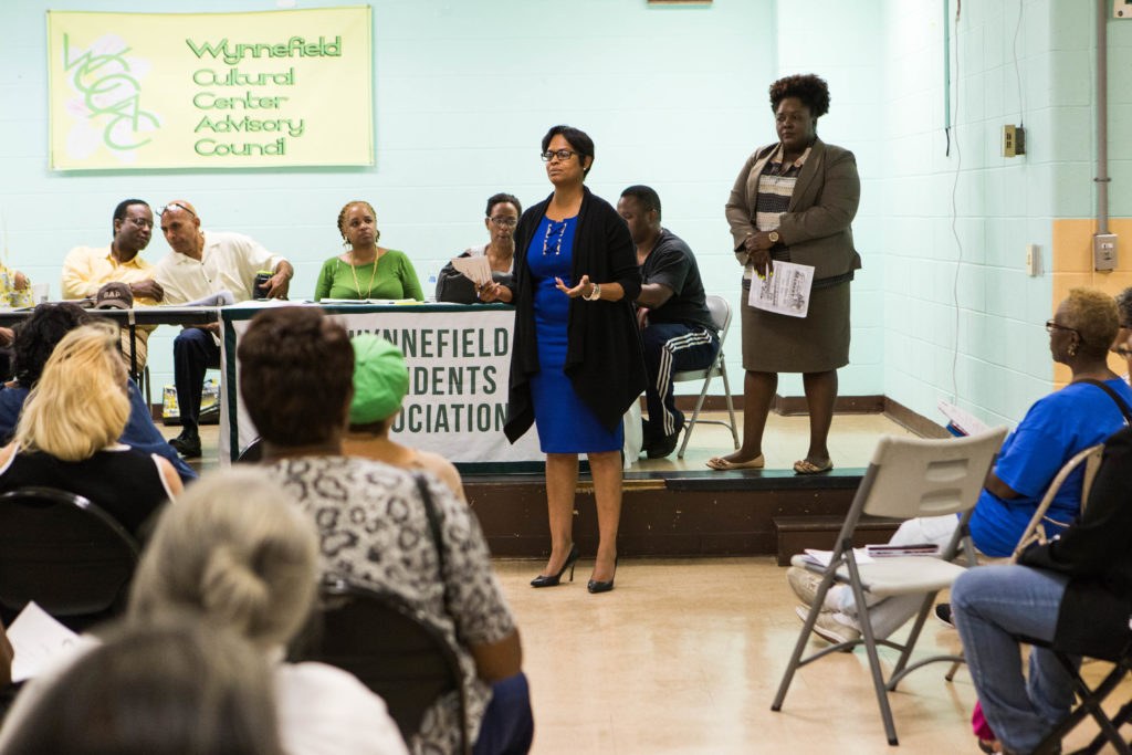 State rep. Morgan Cephas encouraged residents to speak out against PECO's substation plan.