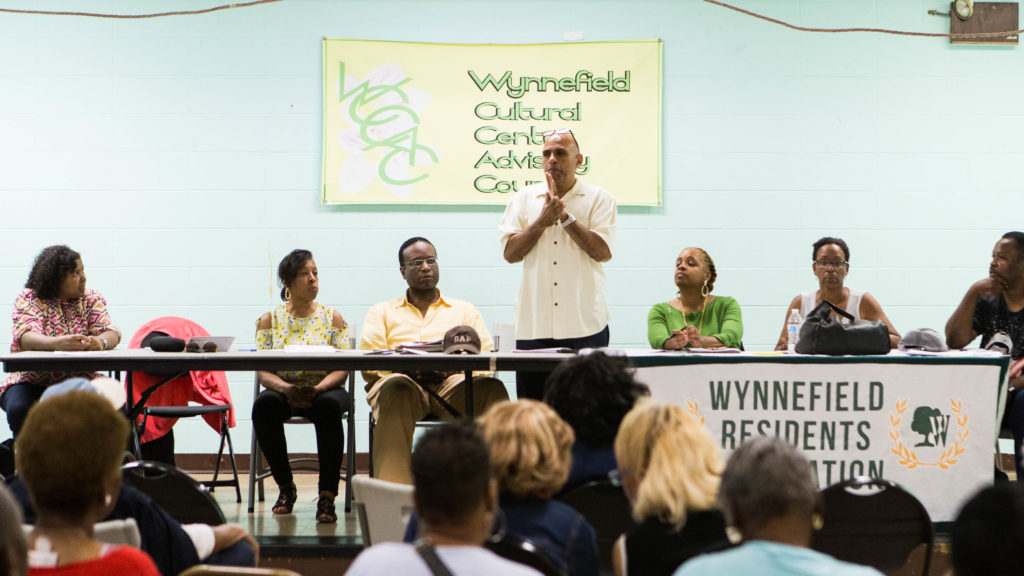 "Wynnefield Residents Association president Mike Reid said the neighborhood has ""different issues every three or four blocks."""