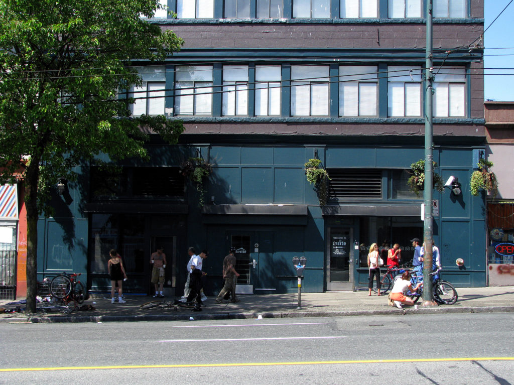 Insite, a safe injection facility located in Vancouver, in 2008