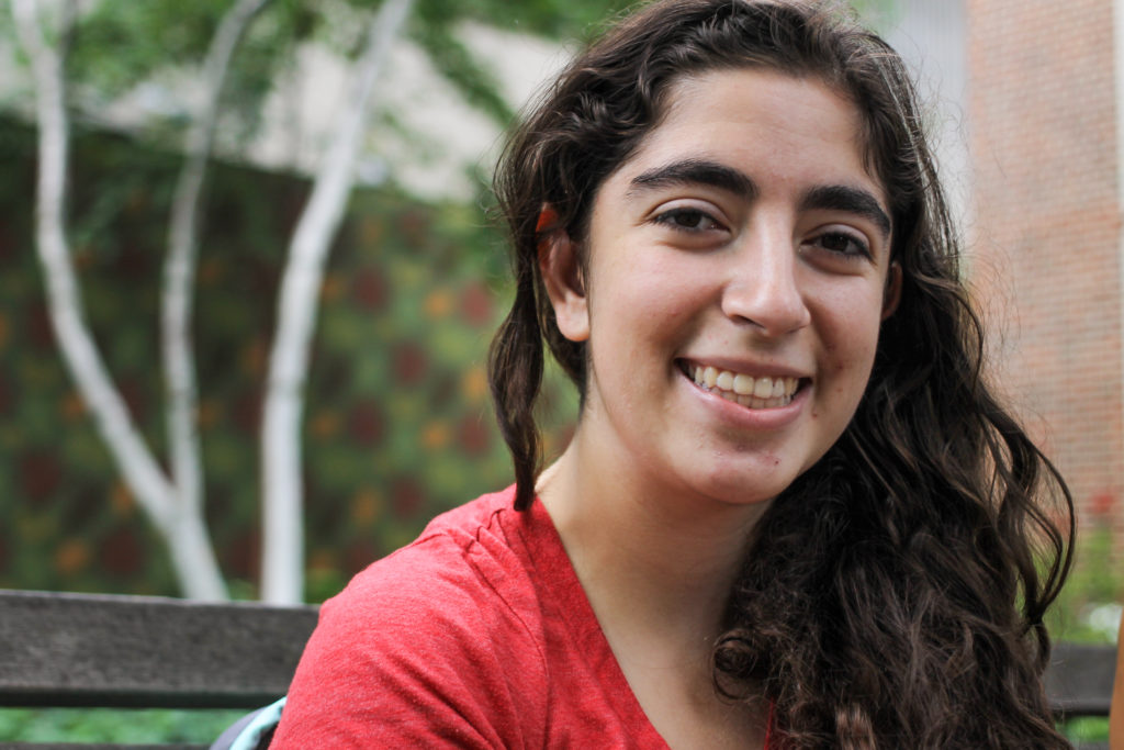 Rachel Perlstein attends Penn but hasn't declared a major yet. 'I want to explore just a lot of, like, you know, the central parks like Rittenhouse Square and things like that. And go to, like, the Independence Mall area and see, you know, the Liberty Bell and historical things like that.'