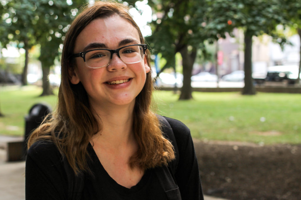 Dana Markham is a media studies and production major at Temple. 'Just experiencing, like, city life.'