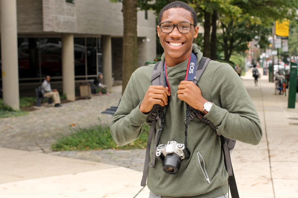 Jamir Guerrant from North Philly is studying business marketing at CCP. 'It's cool to just go to school. Wherever you may go, like, just go. 'Cause a lot of stuff that'll have you going in the wrong directions… it don't matter really what school you go to, you pick CCP, Temple, UPenn, Drexel, wherever you go, just go somewhere. And you could be considered successful. Somewhat.'