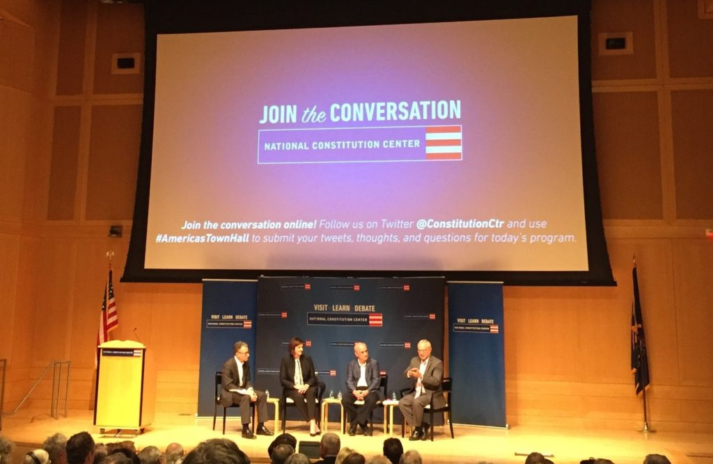 A panel on the future of religious freedom at the National Constitution Center.