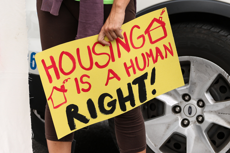 affordable housing protest