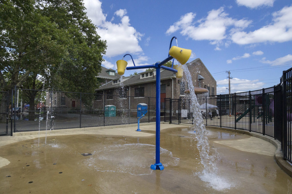 Water playground at Athletic Rec Center