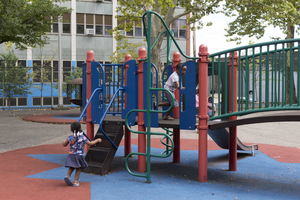 Outdoor play area at Athletic Rec Center