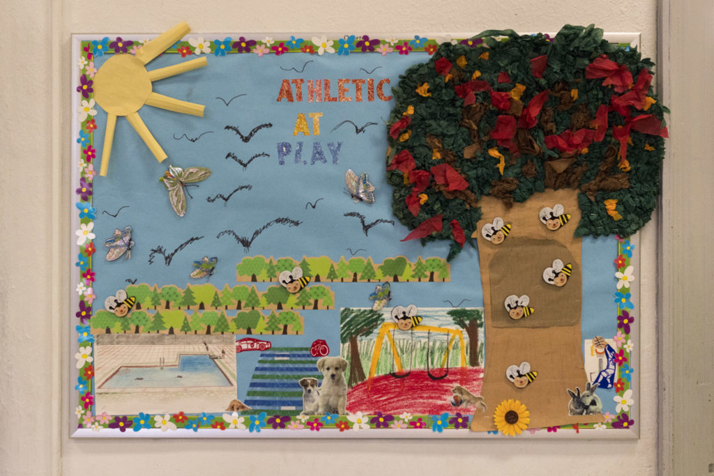Lobby artwork at Athletic Rec Center