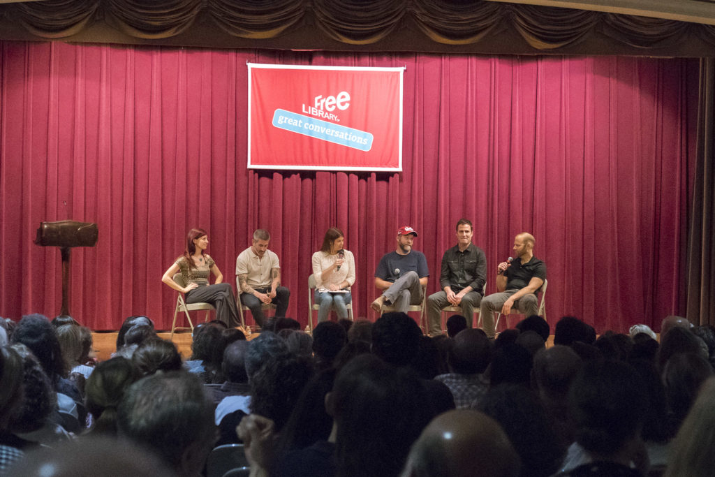 (Left to Right): Felicia D'Ambrosio, Michael Solomnov, Gail Simmons, Bob Logue, Tom Henneman, Steven Cook