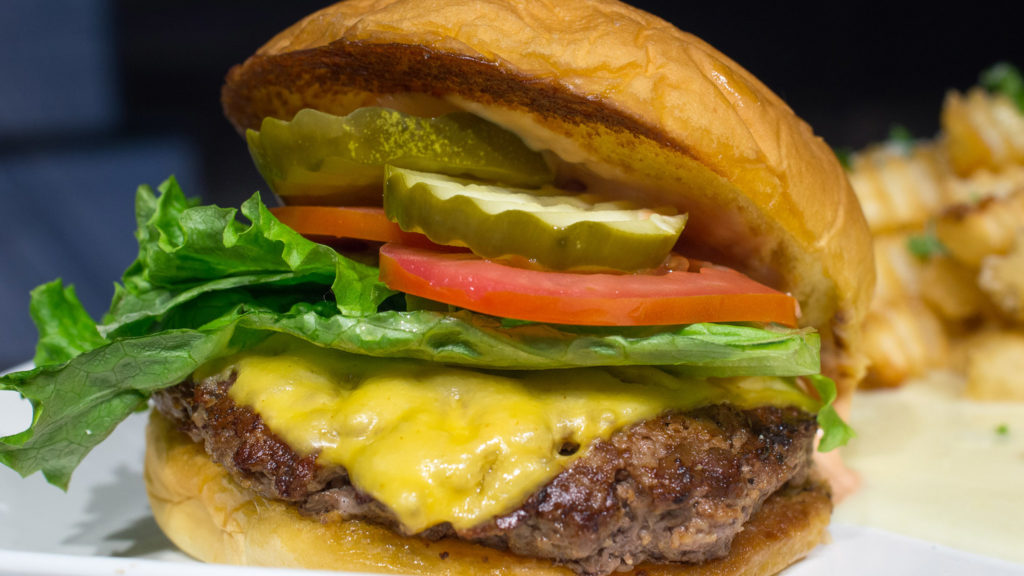 Cheeseburger at Hunger Burger in Reading Terminal Market