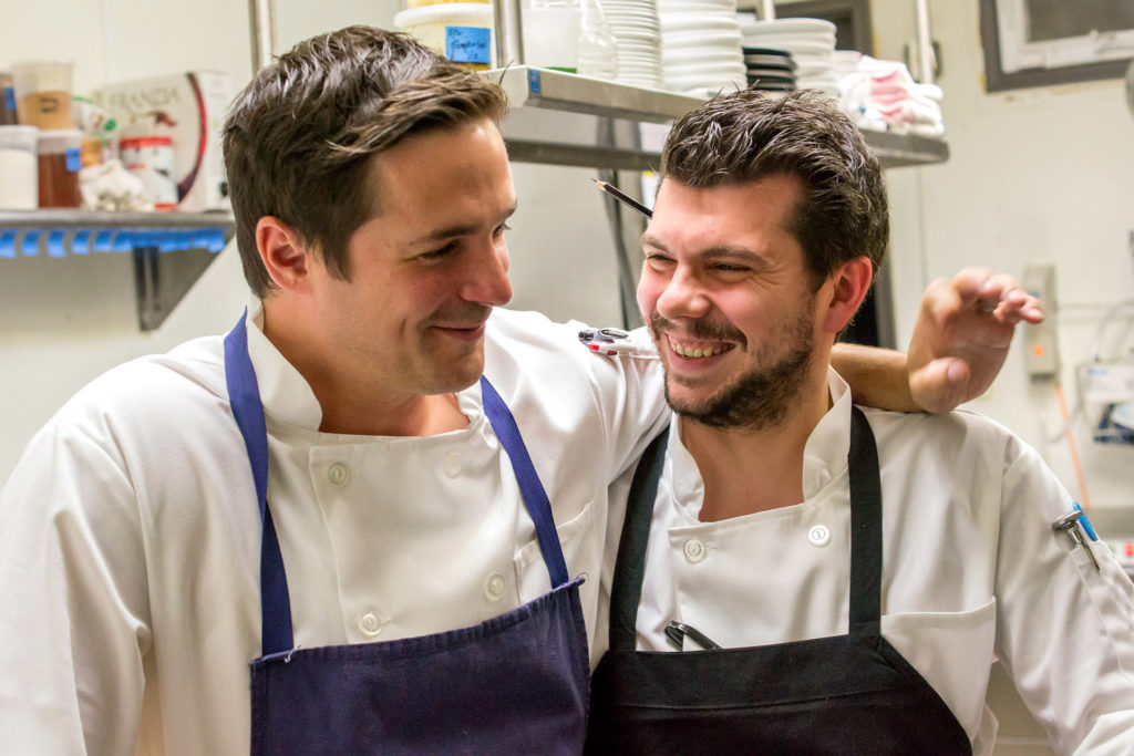 Nicholas Elmi and then-sous chef Edmund Konrad