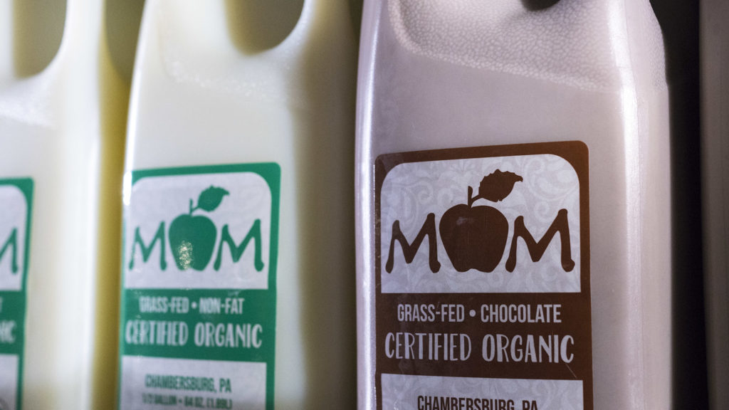 Mom's house brand of milk is made by Trickling Springs Creamery in Chambursburg, Pa.
