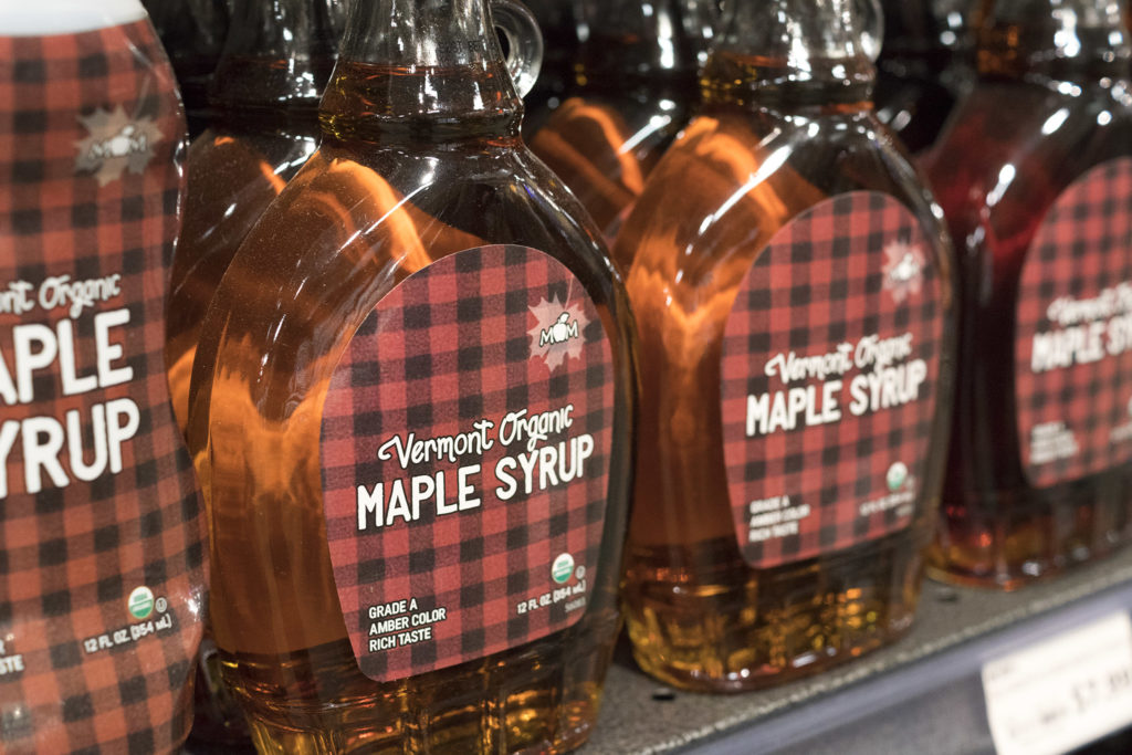 House brand maple syrup at Mom's