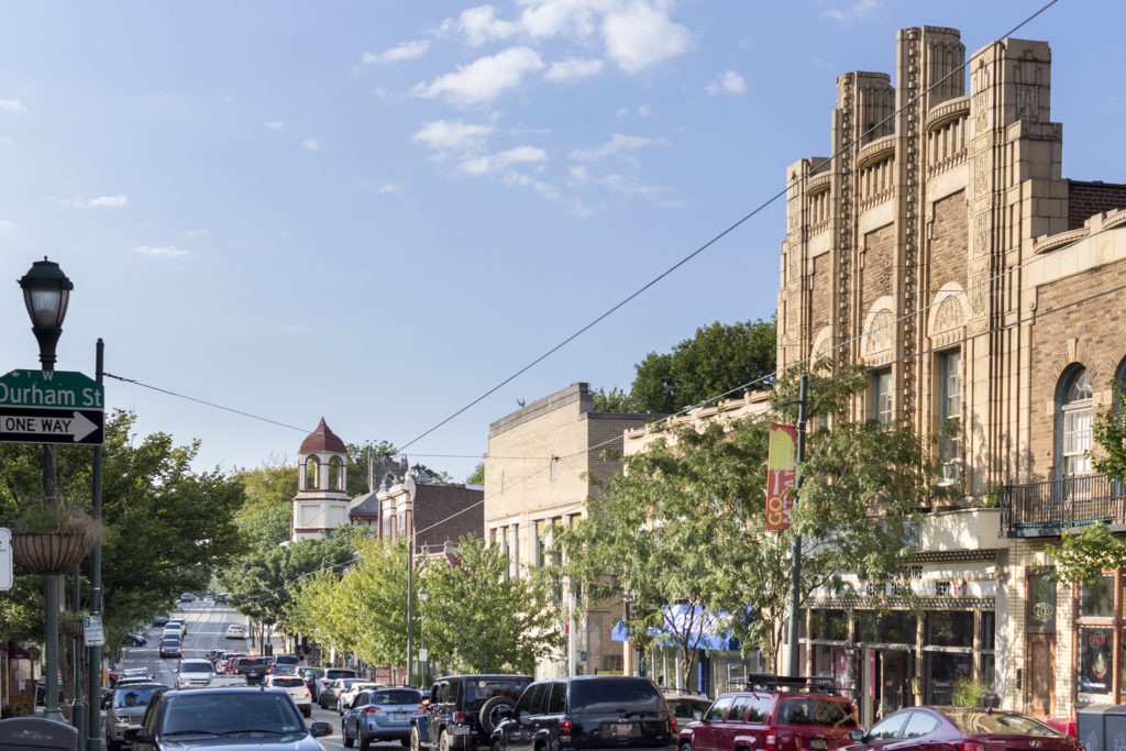 The Sedgewick Theater watches over Germantown Avenue