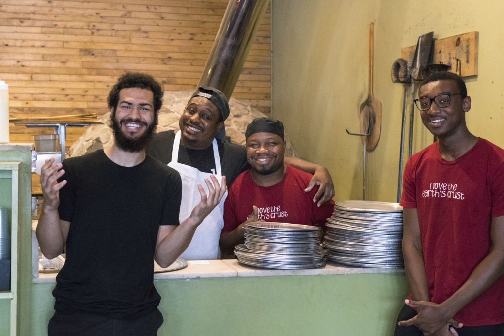 Happy staff at Earth Bread + Brewery