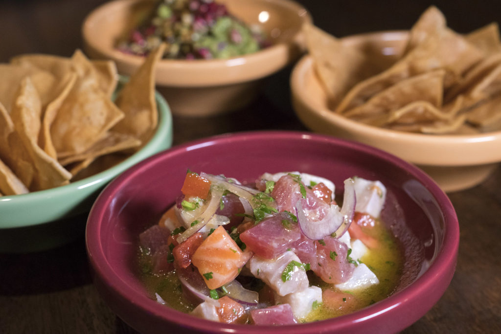 Trinidad is know for his raw fish dishes, like this ceviche mixto