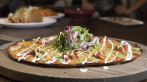 Open face quesadilla at Pistola's Del Sur