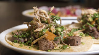 Filet mignon tacos at Pistola's Del Sur