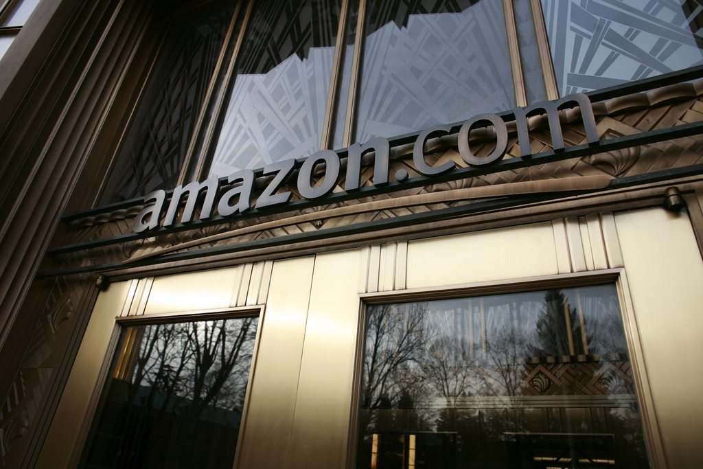 Amazon HQ's front door
