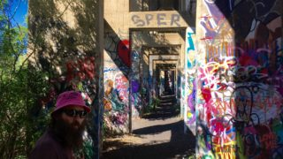 Ed Zampitella walks through Graffiti Pier.