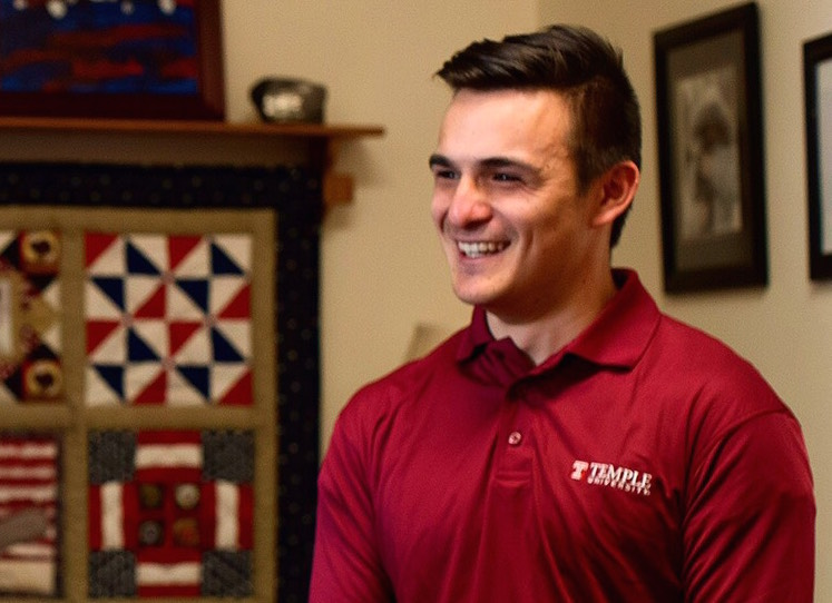 Temple student George Basile is trying to create on-campus recovery housing at Temple.