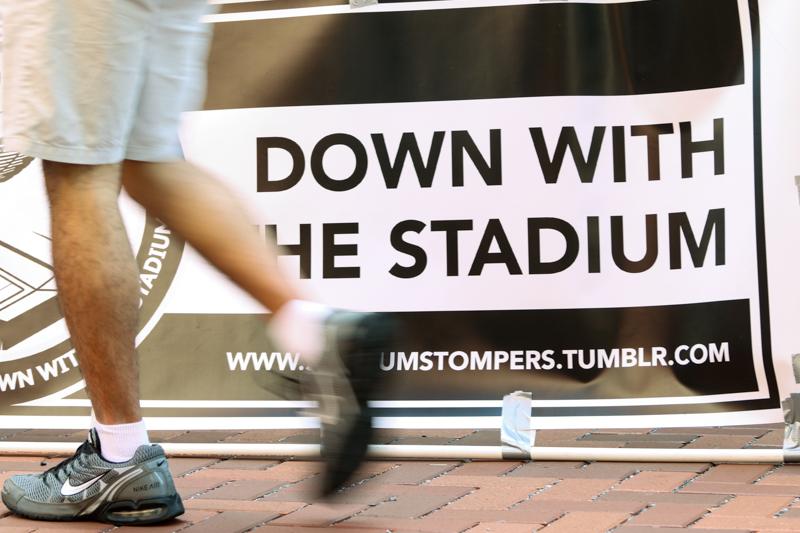 temple stadium protest