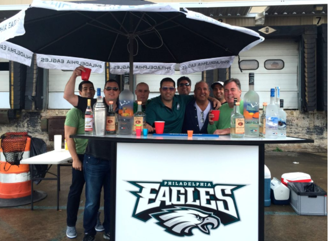 An Eagles tailgate photographed during the 2016 season.