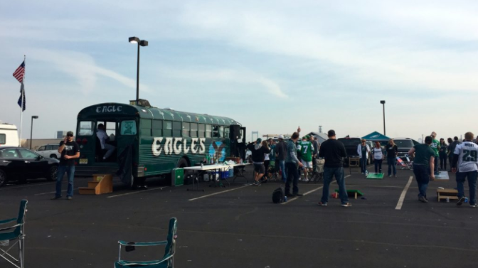 The scene at the Linc during an Eagles-Bill game in 2016.