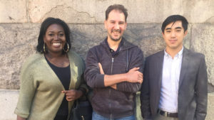 From left to right, Bethany Stewart, Kris Eden and Andrew Yang.