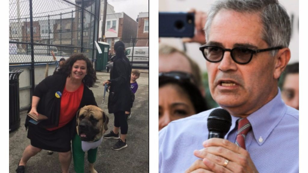 Republican Beth Grossman and Democrat Larry Krasner are challenging for District Attorney.