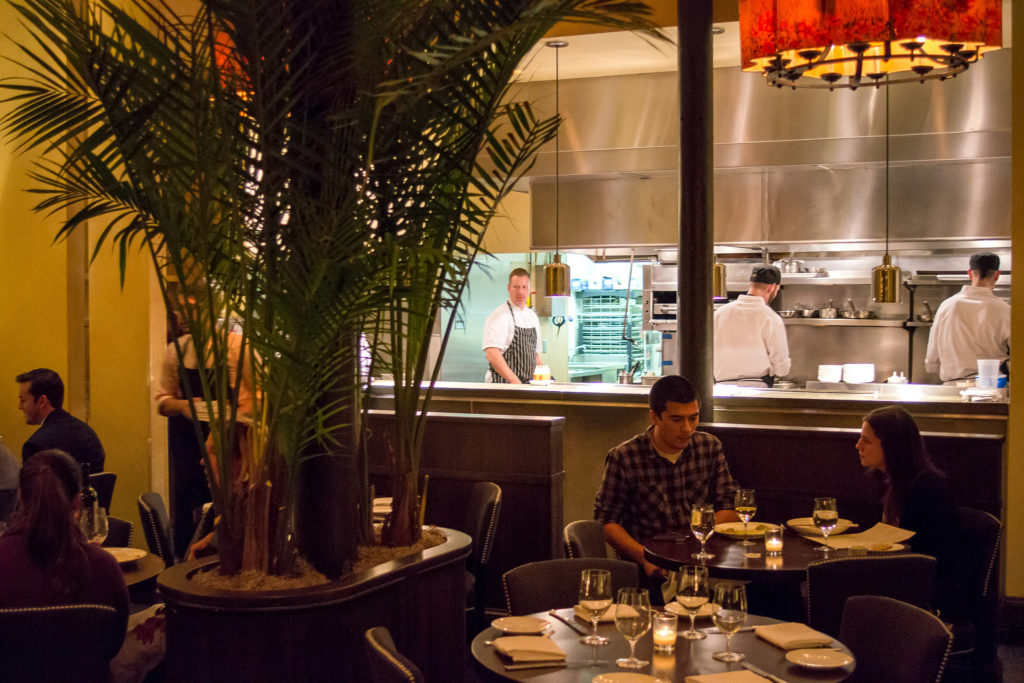 A glimpse of Eli Kulp (with striped apron) in the Fork kitchen, November 2012