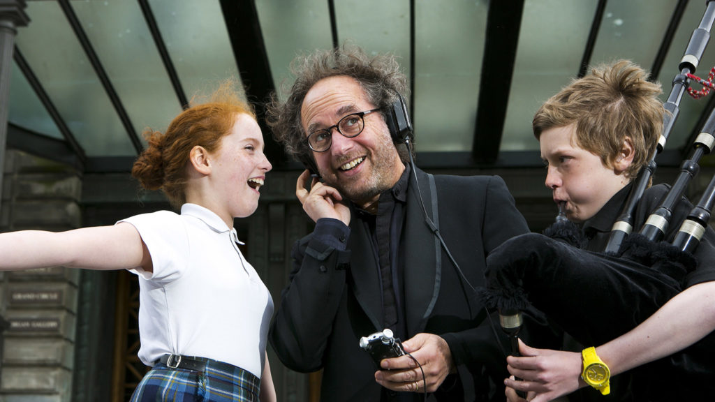 Tod Machover recording voices for a similar project in Edinburgh