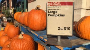 Pumpkins at Whole Foods South Street