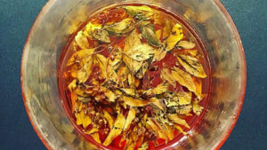 Queen of Siam basil fermented honey will be served with roasted delicata squash at Savoie Organic Farm