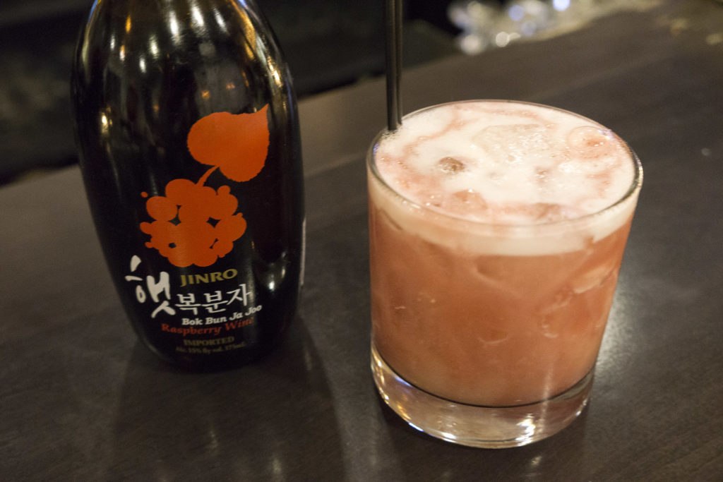 Jinro is the most prolific soju producer in the world, and also makes this bokbunja wine served at Southgate