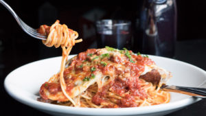 Spaghetti and chicken parm at Triangle Tavern
