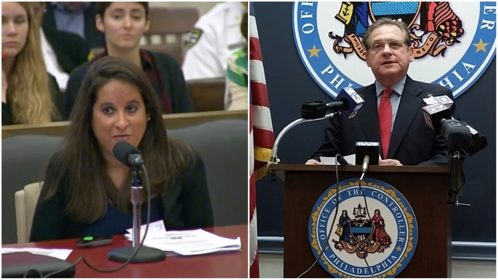 Left: Julie Wertheimer, Philadelphia's chief of staff for criminal justice. Right: City Controller Alan Butkovitz.